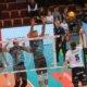 Harter Kampf: In der vergangenen Saison duellierten sich Dürens Michael Andrei (l.) und Björn Andrae unter anderem mit dem Ex-Dürener Hauke Wagner. Foto: powervolleys